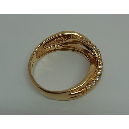 34 - Silver Gilt Tiffany Style Ring, Size P1/2...