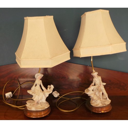 17 - Pair of Figurine Table Lamps and shades...