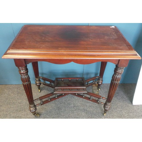 41 - Edwardian Occasional Table with Gallery on Castors...