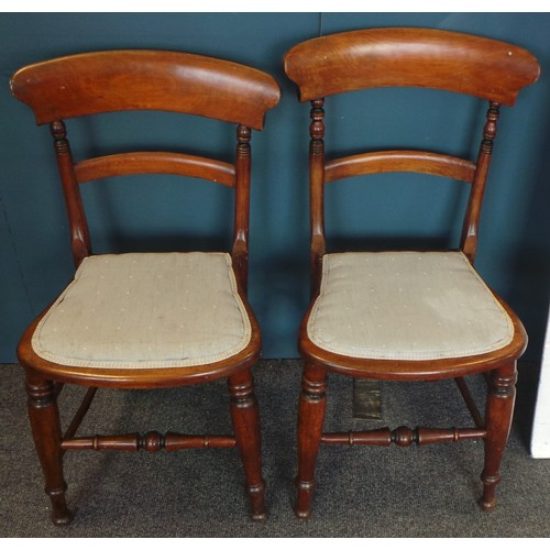 46 - Lot of 2x Victorian Mahogany Dining Room Chairs...