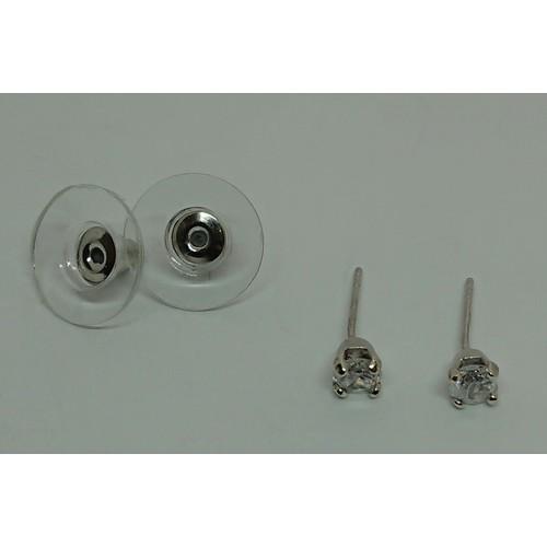 35 - Pair of White Gold Diamond Stud Earrings...