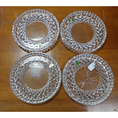 60 - Lot of 4x Waterford Crystal Circular Plates...