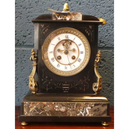 2 - Marble Mantel Clock...