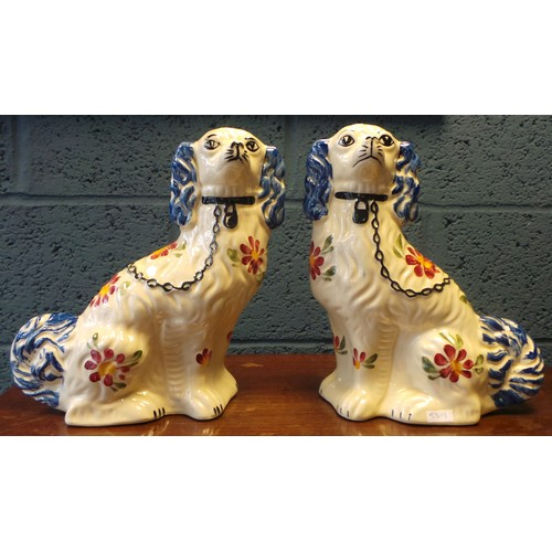 5 - Pair of Painted Staffordshire Ornamental Dogs...