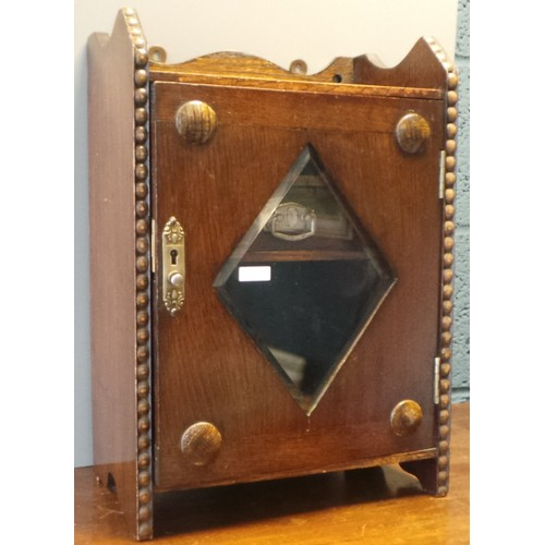 7 - Oak Smokers Cabinet...
