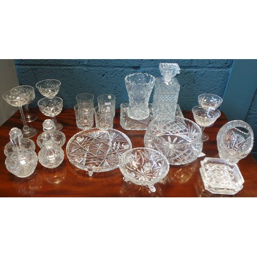 9 - Collection of Cut Glass...