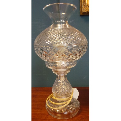 18 - Waterford Crystal Table Lamp - Height: 14