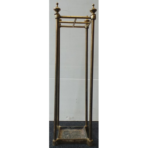 19 - Brass Umbrella Stand - H: 60cm; W: 15cm; D: 15cm...