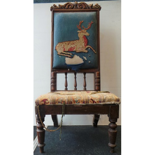 20 - Occasional Chair with Stag Decoration...