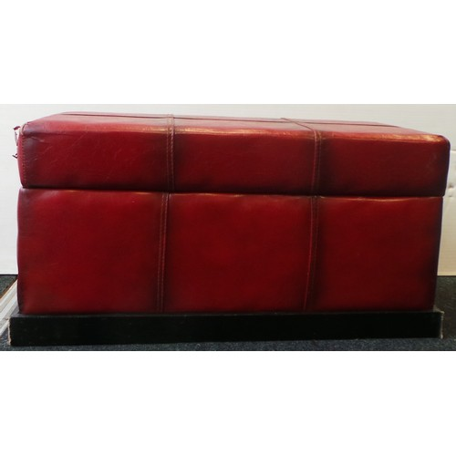 23 - Red Padded Ottoman...