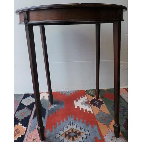 29 - Circular Mahogany Occasional Table...