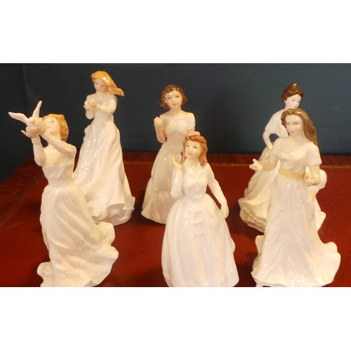 39 - Collection of Six Royal Doulton Ceramic Figurines...