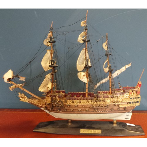 42 - Model Sailing Ship - 'Sovereign of the Seas' - 16