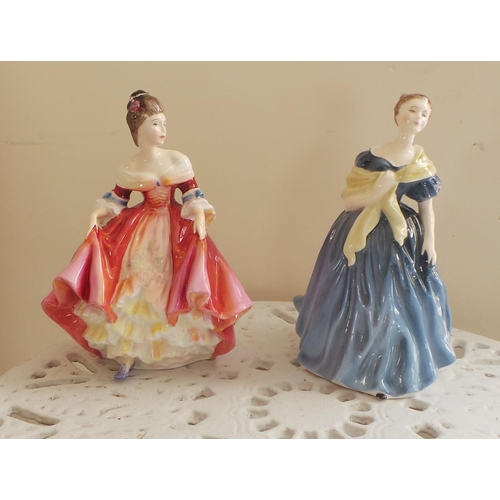 43 - Lot of 2x Royal Doulton Figurine - Adrienne & Southern Belle...