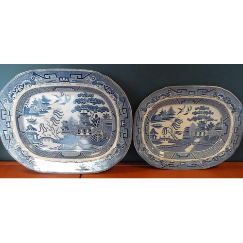 4 - Lot of 2x Blue and White Meat Dishes...