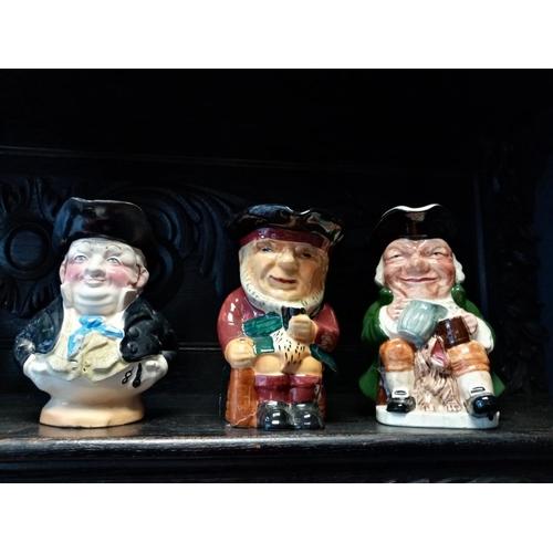 36 - Lot of Three Character Jugs...