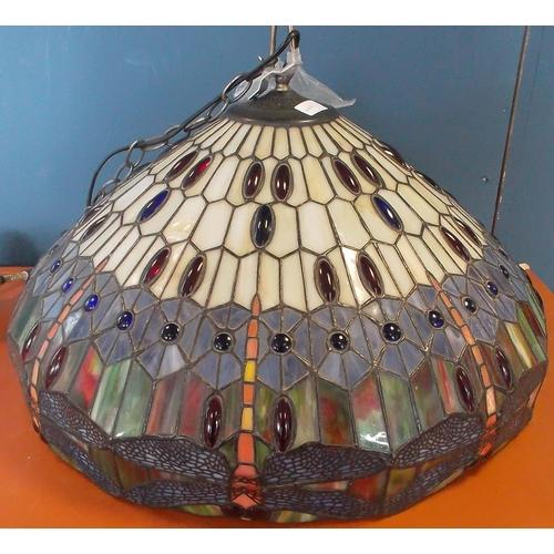 43 - Large Tiffany Style Light Fitting, 60cm diameter...