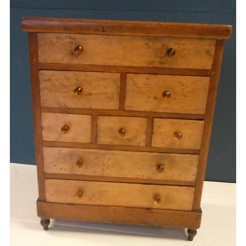 54 - Apprentice Piece Miniature Chest of Drawers, 35cm wide x 17cm deep x 43cm high...