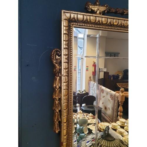 42 - Gilt Overmantle Mirror, 93cm wide x 75cm high...