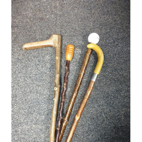 29 - Lot of 4x Walking Canes/Sticks...