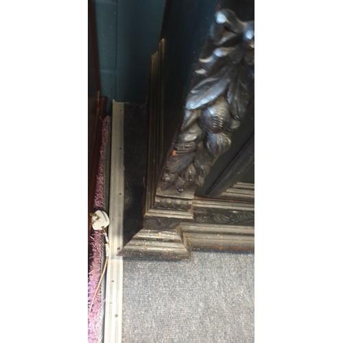 31 - Heavily Carved Oak Sideboard 150cm wide x 250cm high, 52cm deep...