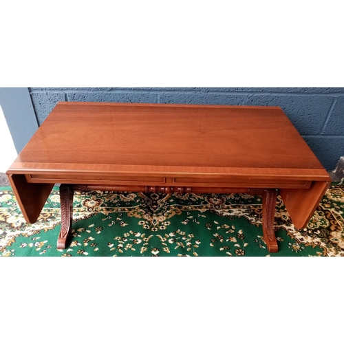 2 - Yew Dropleaf Coffee Table
