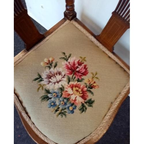 28 - Inlaid Mahogany Corner Chair