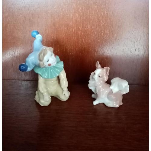 48 - Nao Clown and Lladro Dog
