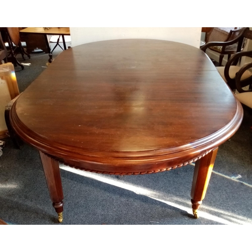 51 - Reproduction Mahogany Dining Room Table with leaf