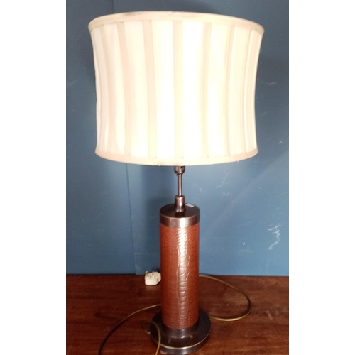 53 - Leather Lamp and Shade