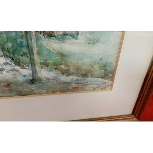 55 - Framed Watercolour Harbour Scene by John Nicholson