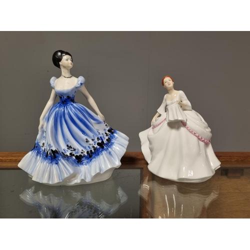 46 - Royal Doulton Figure Carol and Coalport Figure Maureen