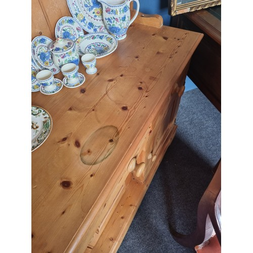 12 - Pine Open Kitchen Dresser - 170cm wide x 185cm tall x 47cm deep