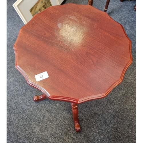 47 - Occasional Pod Table 64cm high x 40cm diameter