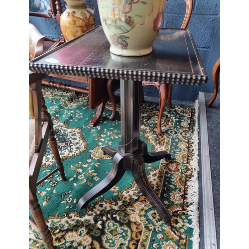 30 - Brass Inlaid Occasional Table