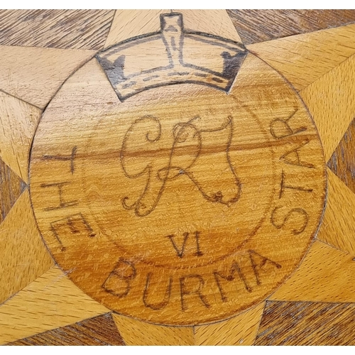 1 - Octagonal Marquetry Plant Table (The Burma Star)