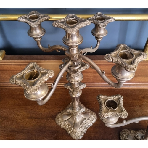 11 - 2x Candelabras and one single