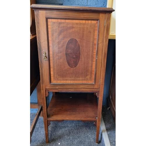 12 - Inlaid Mahogany Music Cabinet