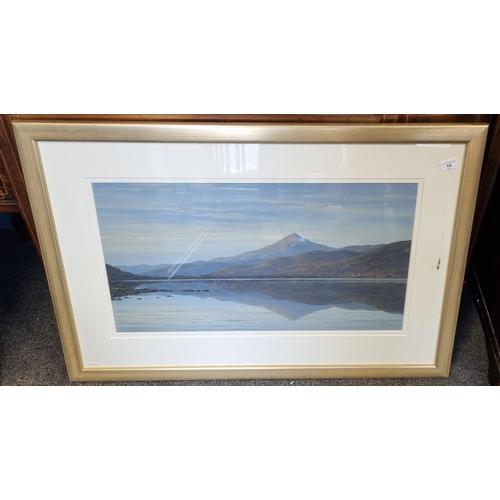 16 - Framed Oil Loch Landscape
