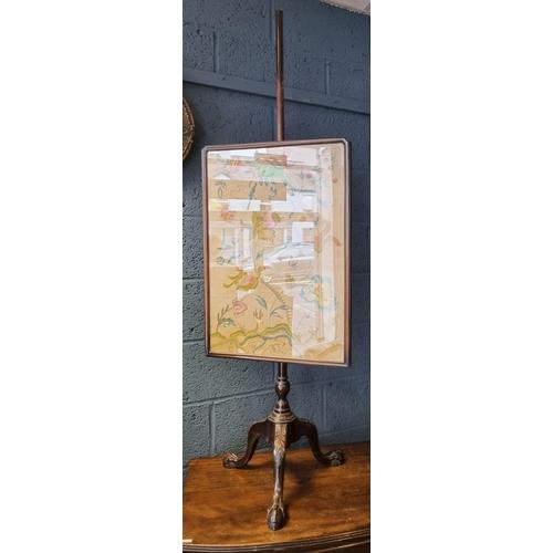 21 - Victorian Mahogany Pole Screen