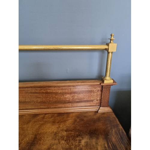 26 - Mahogany Sideboard with brass gallery top