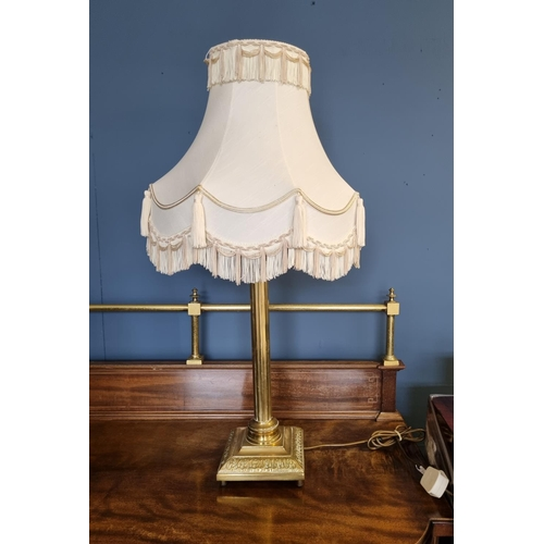 28 - Brass Table Lamp and Shade