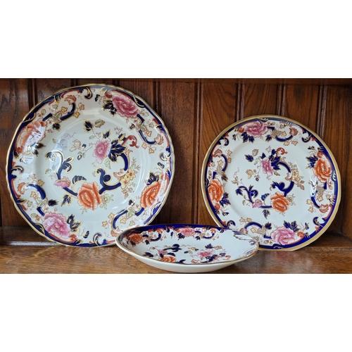 4 - Lot of 3x Mason Mandalay Plates