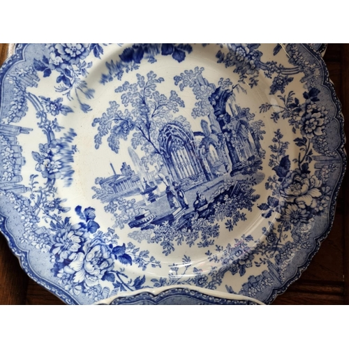 5 - Collection of 5x Blue and White Plates, Ashworth Bros.  Hanley