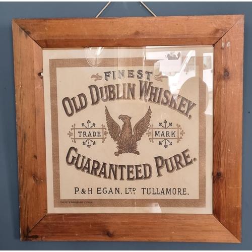 43 - Framed Old Dublin Whiskey Advertising Print