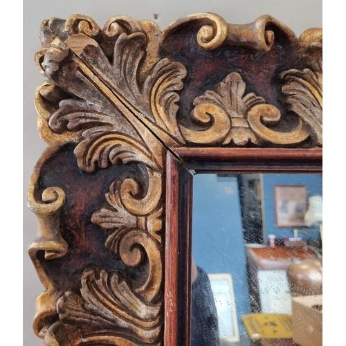 47 - Ornate Gold frame Mirror 110cm wide x 91cm  high