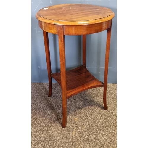 50 - Circular Mahogany Circular Occasional Table