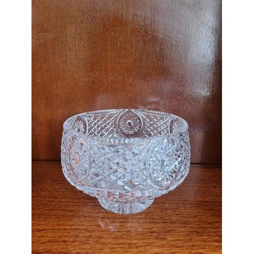 53 - Tyrone Crystal Bowl 14cm high x 20cm diameter