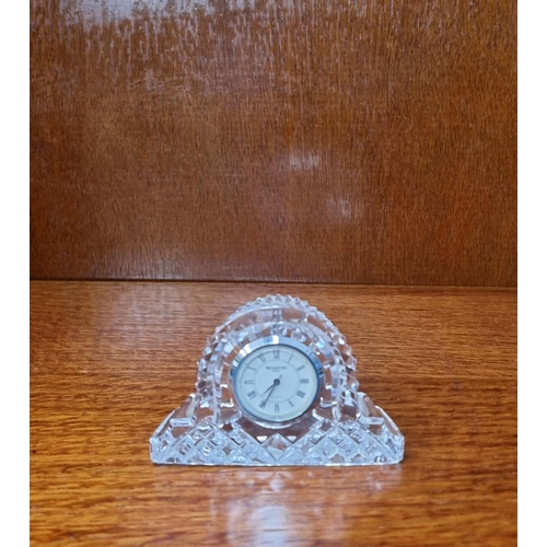 56 - Small Waterford Crystal Clock
