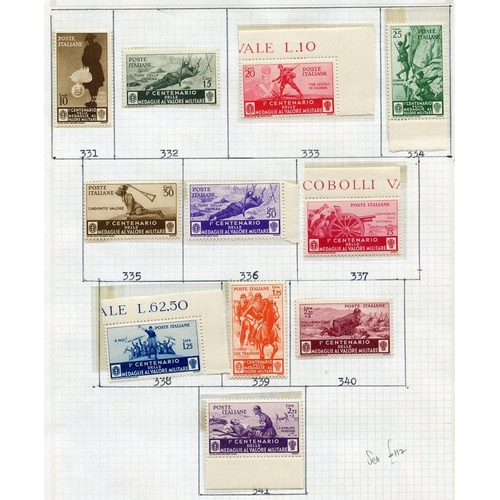 102 - EUROPE three albums containing collections of Greece 1875-1970's predominantly M or UM, Italy 1863-1...